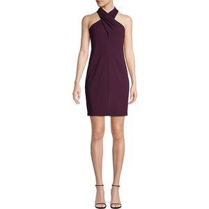 NWT Eliza J Sleeveless Side Pleat Halter Dress